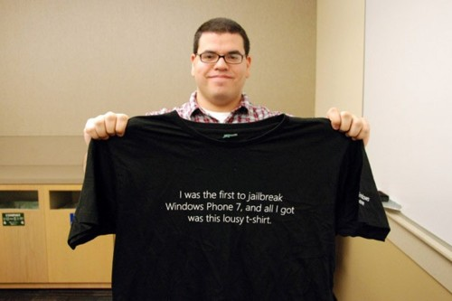 I was the first to jailbreak Windows Phone 7, and all I got was this lousy t-shirt